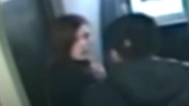 Captura de una cámara de seguridad durante el robo