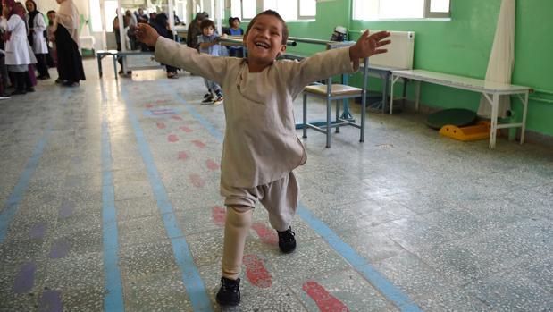 Ahmad Sayed Rahman, de cinco años