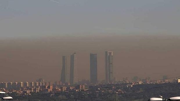 Contaminación sobre la ciudad de Madrid