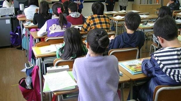 Alumnos de una clase de primaria