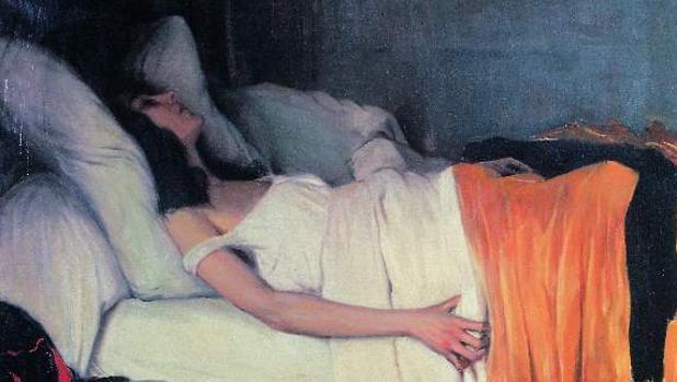 «La morfina», el cuadro que pintó Santiago Rusiñol en 1894