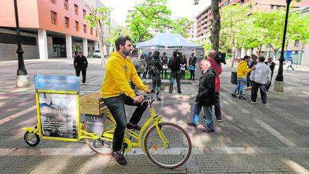 Bicicletas con la campaña contra la psoriasis