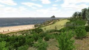Imagen virtual de la playa de Wembury utilizada en el estudio