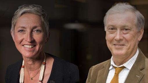 Linda-Gail Bekker, Presidenta de la Sociedad Internacional del Sida (AIDS) y François Dabis, Director de la Agencia Francesa de Investigación del VIH y la Hepatitis (ANRS)