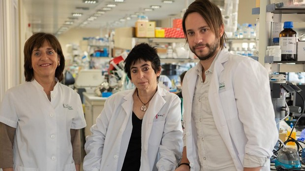Anna Novials, Carlos Castaño y Marcelina Párrizas.