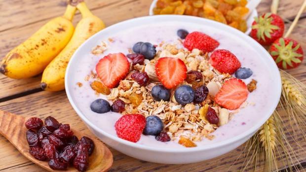 El desayuno muy eneérgético del estudio incluía lácteos y cereales