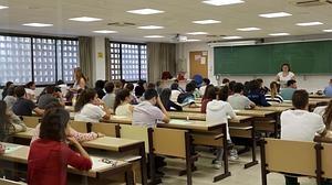 Estudiantes en el examen de Selectividad, este año