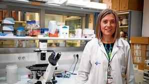 María Vitoria Mateos, hematóloga del Hospital Clínico de Salamanca en un momento de la entrevista con ABC