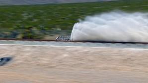 Prueba experimental en Las Vegas sobre el funcionamiento de este tren supersónico