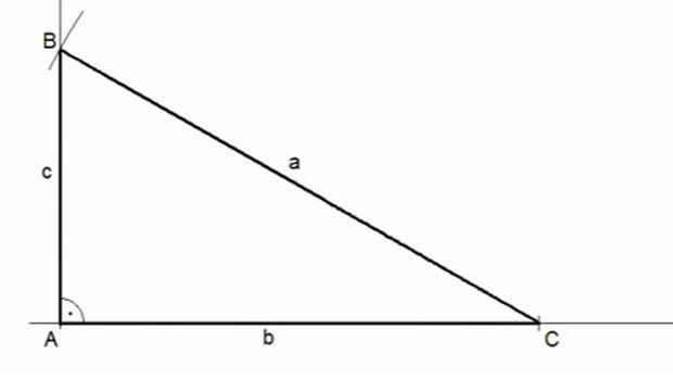 Imagen de un triángulo rectángulo