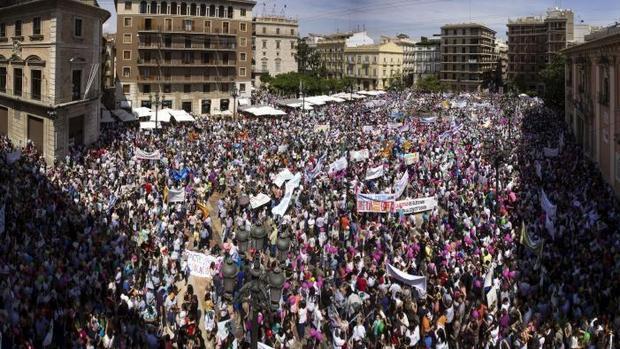 Manifestación en Valencia en apoyo de la educación concertada