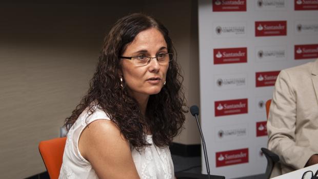 La ingeniera, y madre de tres hijos en un acto de la Universidad Complutense de Madrid