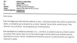 «Tendremos que ser discretos», responde Francisco López-Valdés a Juan José Alba el 30 de marzo de 2012 a las 21.34 horas
