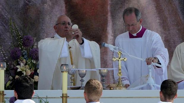 El papa Francisco, durante la Misa de clausura de la Jornada Mundial de la Juventud de Polonia