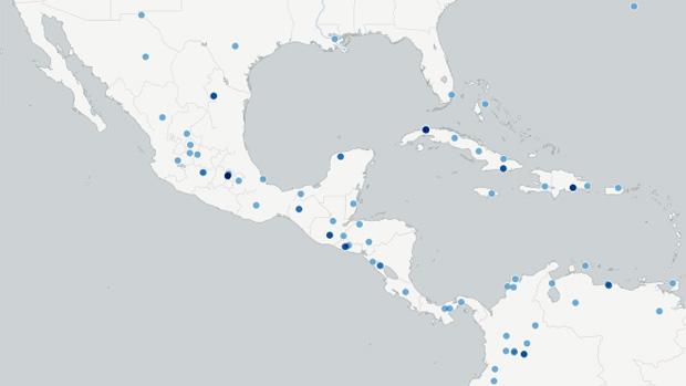 Localidades visitadas alguna vez por un Papa en América Central