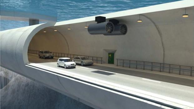 Una de las opciones es la de construir un túnel flotante sumergido