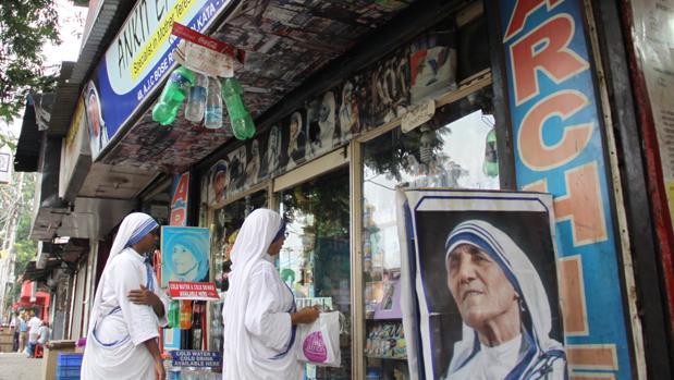 Tienda religiosa en Calcuta