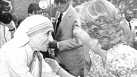 Con la Reina en 1986