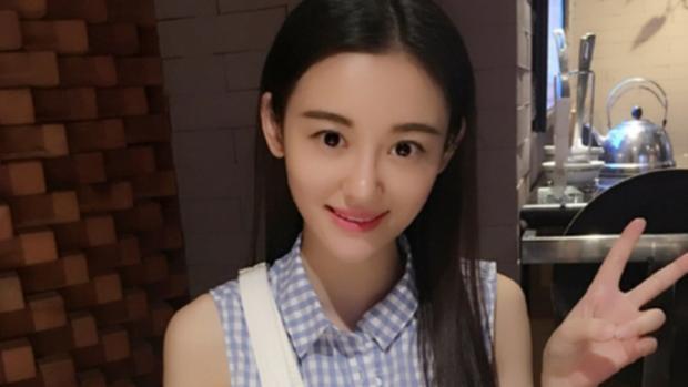 La actriz china Xu Ting, en una imagen colgada en sus redes sociales