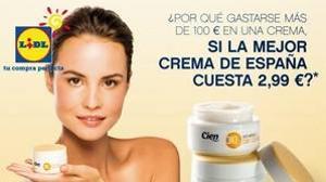 De la crema hidratante «Cien» de Lidl a la de La Mer: un gesto con 220 euros de diferencia
