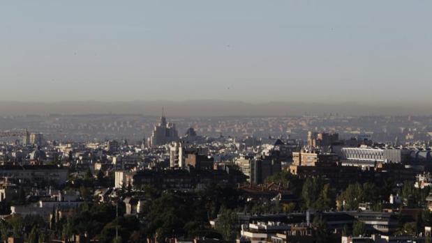 Contaminación sobre Madrid