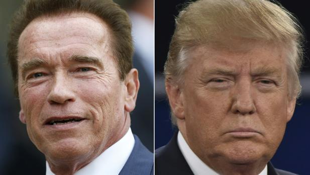 Trump se ríe de Schwarzenegger