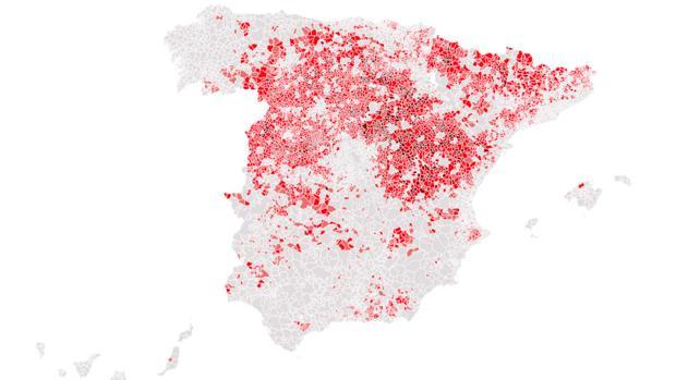 Pueblos con menos de 500 habitantes