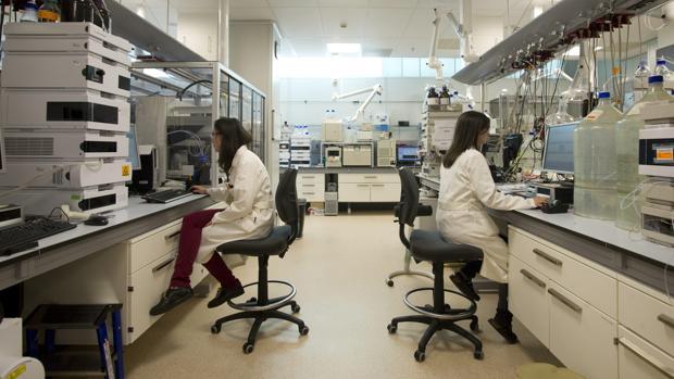 Laboratorio de una compañía farmaceútica