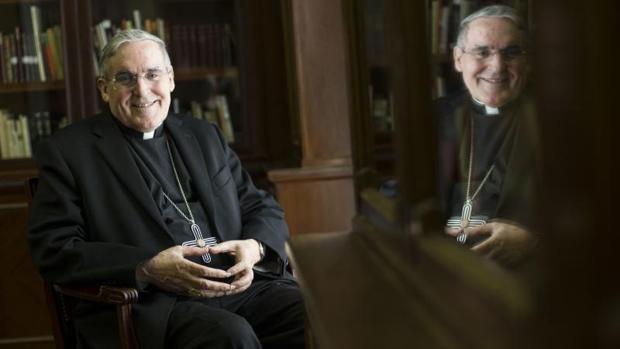 El cardenal Lluís Martínez Sistach en un momento de la entrevisa con ABC
