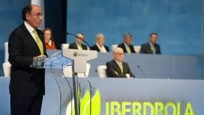 El presidente de Iberdrola, Ignacio Sanchéz Galán, al inicio de la Junta General de Accionistas de Iberdrola