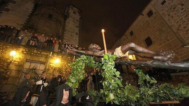 Procesión del Cristo Negro en Cáceres