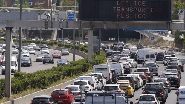 Estado del tráfico en la incorporación a la A-1 desde la M-30 este viernes