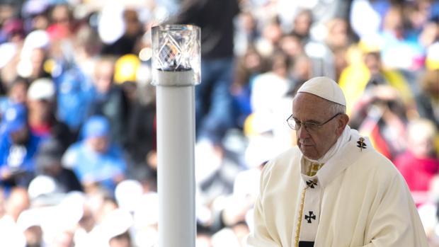 El Papa Francisco, celebrando una misa este pasado fin de semana en Fátima