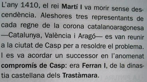 Libro de texto en Cataluña