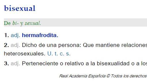 Definición de «bisexual»