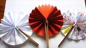 Así se hace un abanico de papel