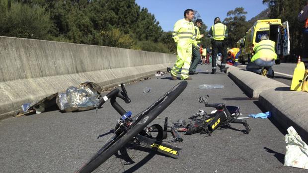 Atropello de varios ciclistas