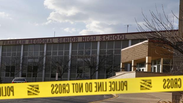 Franklin Regional Senior High School en Pensilvania (EE.UU.), tras un suceso en 2014