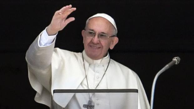 El Papa Francisco, durante el encuentro con miles de peregrinos en la plaza de San Pedro