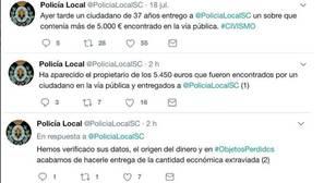 Twitter de @PoliciaLocalSC