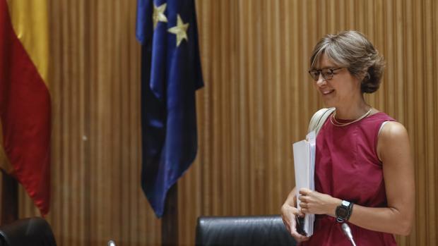 La ministra de Agricultura, Isabel García Tejerina, hoy, a su llegada a la Comisión de Agricultura del Congreso