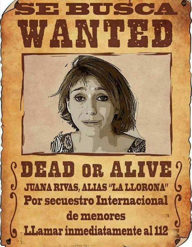 Denuncian un cartel ofensivo sobre Juana Rivas y piden a la ministra que intervenga