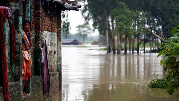 Inundación en Janakpur, Nepal