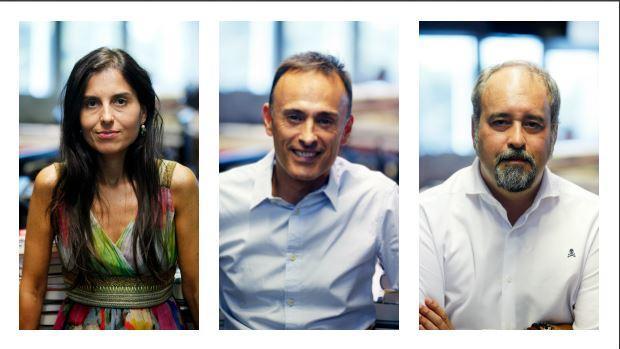 De izquierda a derecha, Montserrat Lluis, Luis Ventoso y Agustín Pery