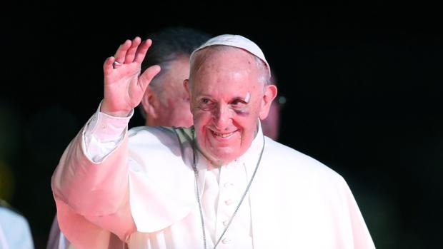 El Papa Francisco, durante su último acto en Colombia