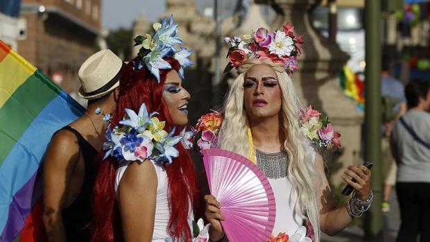 Fiesta del orgullo gay en Sevilla