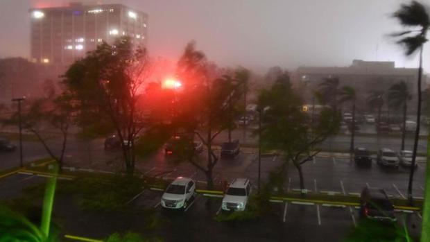 El hurac n mar a toca tierra en el sureste de puerto rico - Puerto rico huracan maria ...