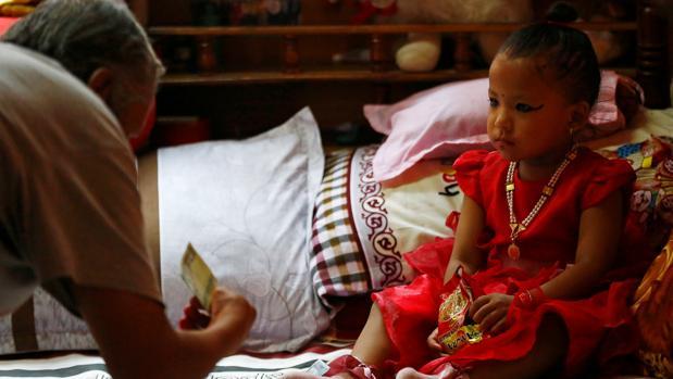 Trishna Shakya tiene 3 años