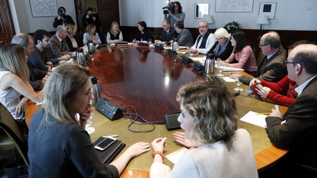 Miembros de la Subcomisión del Congreso donde se negocia el Pacto por la Educación