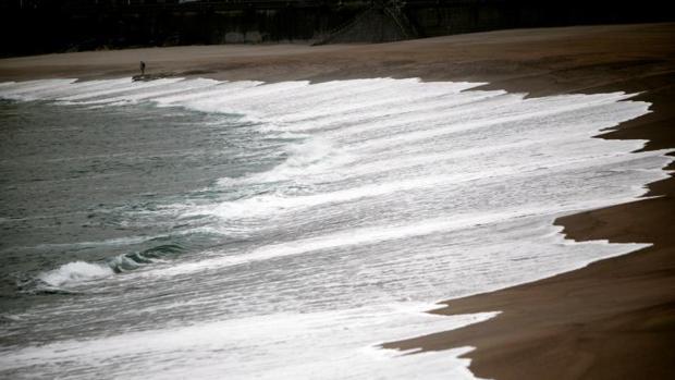 Playa de Orzán, en La Coruña